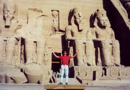 Mark visits the Temples of Abu Simbel, Southern Egypt Courtesy of Abercrombie & Kent International Travel Co.'