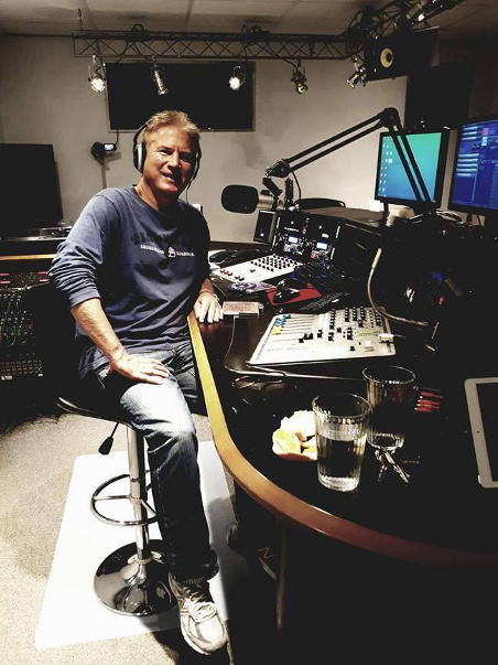 Mark from Holland in the new studio of Heemskerk FM