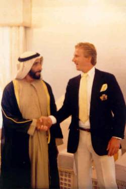 Mark with President Sheikh Zayed Bin Sultan Al-Nahyan,U.A.E.